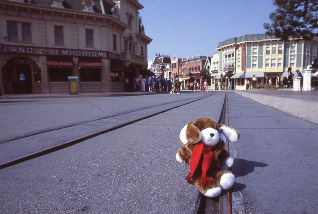 Clyde on an assignment covering the opening of a new attraction at Disneyland.