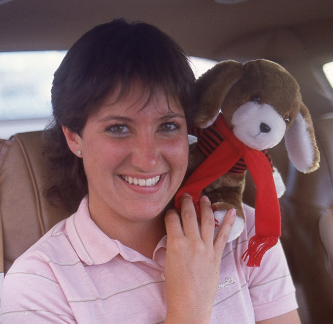 Clyde with reporter Eileen Ferenchak.