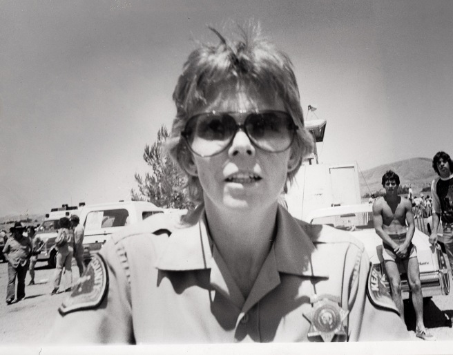 Deputy sheriff Jodi Marlett demands that I give her my camera. I declined.