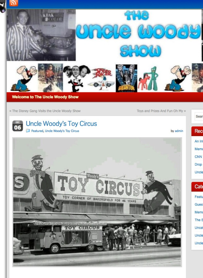 This screen shot from the Uncle Woody Show web site shows the Chester Avenue store in its hey day, most likely in the 1960s.