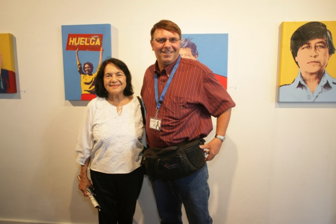 One of my students took a picture of me with Dolores Huerta in 2009.