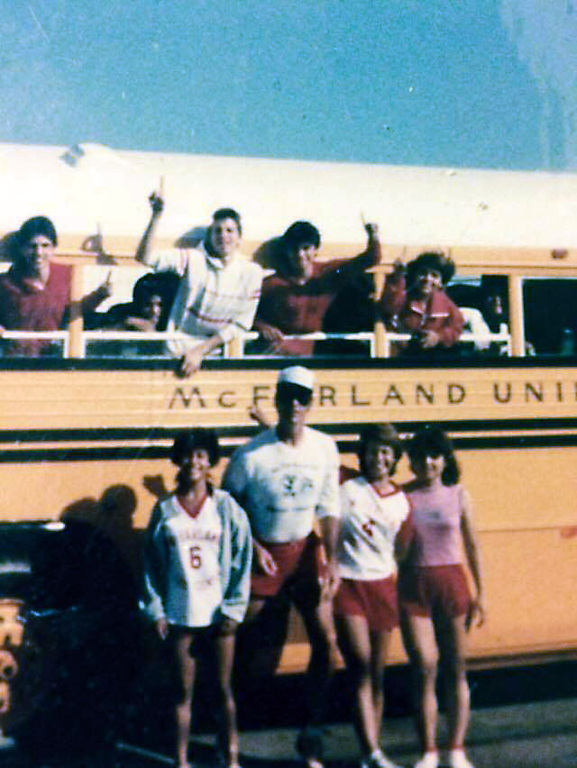 The teams on the day of the beach trip, fall of 1985.