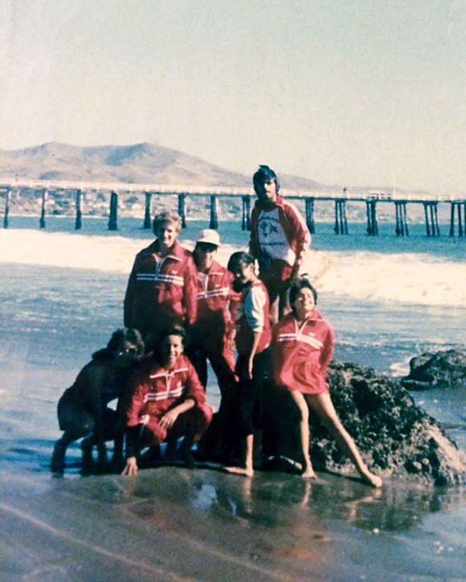 At left, Silvia Diaz and Alicia Herrera. Center from left, Tammy Carter, Gabby Perez, Norma Lopez and Dolores Plata. Top, standing on rock is Albert Torrez. Photo is by Raul Diaz and is from the personal album of Silvia Diaz.