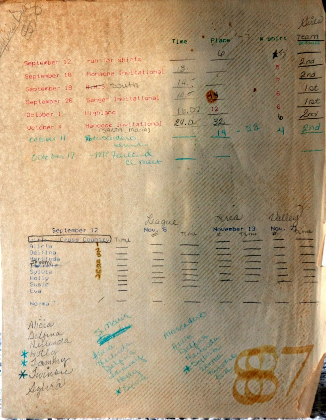 Sylvia kept a detailed chart of the team's performance in 1985. If you look real closely at the lower left of the page, you can see that Norma Lopez's new nickname stuck.