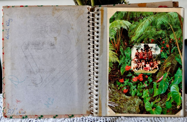 Sylvia Diaz's personal photo album opens with a clear indicator of her dream, a desire to see Hawaii. She neatly included a team photo of her team - boys and girls - at the beach. Courtesy of Flora Diaz and Raul Diaz