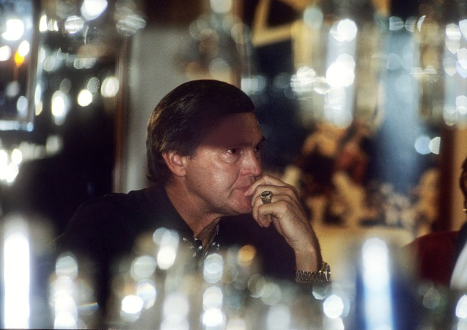Los Angeles Lakers general manager Jerry West sat alone in the bar at the Great Western Forum in the moments following the announcement on November 7, 1991, by Magic Johnson that he was HIV positive and would be retiring from the Lakers.